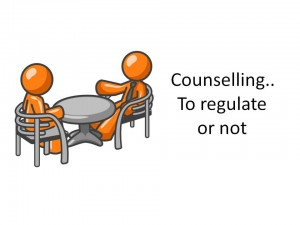 Counselling regulation